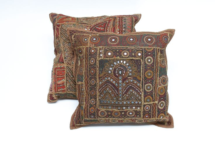 Hand embroidered Vintage tribal pillows