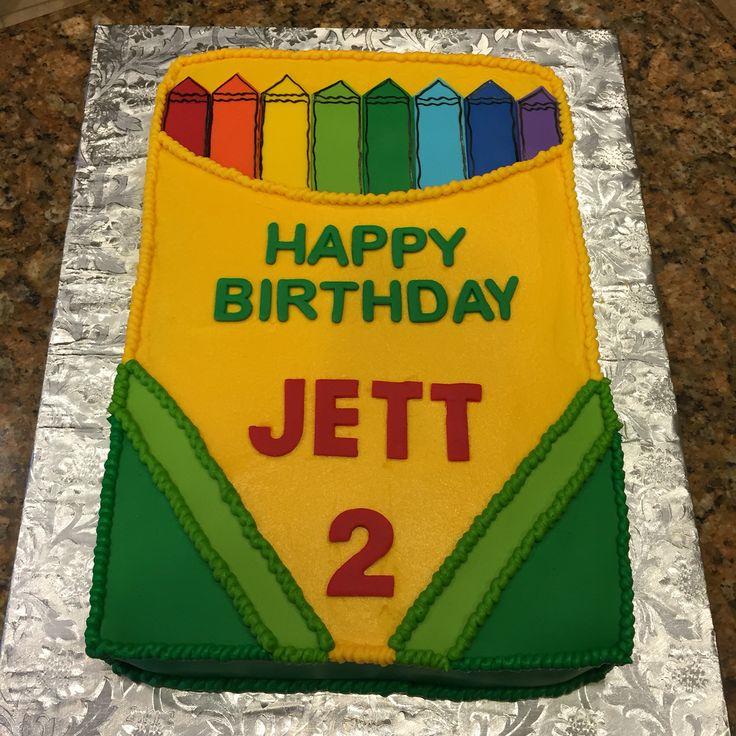Crayola Crayon Cake      Birthday cake!
