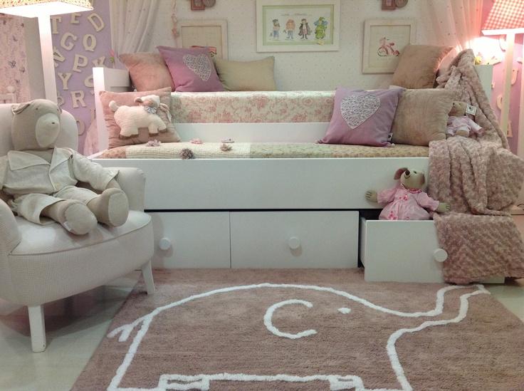 Alfombra elefante en color topo alfombras infantiles - Alfombras infantiles lavables lavadora ...