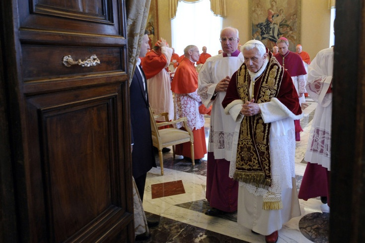 Pope Benedict on the day he announced his retirement - Feb 2013