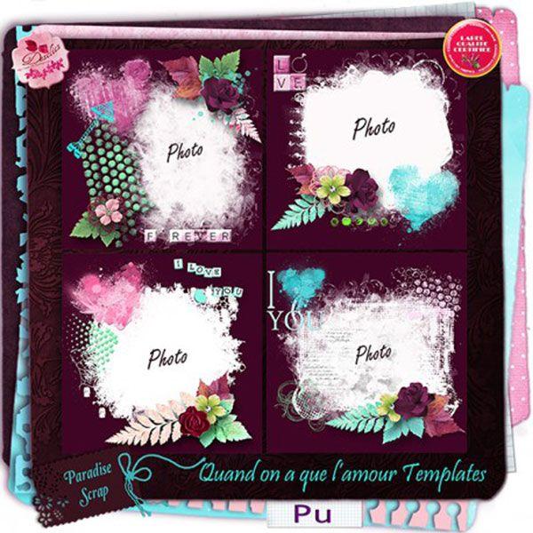 Quand on a que l'amour templates by Desclics  Available @ http://www.paradisescrap.com/fr/91_desclics