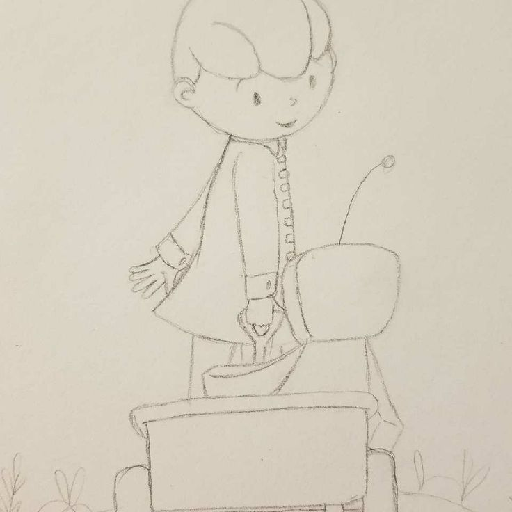 A quick sketch for March of Robots theme RIDE.  #marchofrobots #marchofrobots2018 #ride #illustration #illustrations #sketchbook #sketch #picturebookillustration #picturebook #littleredwagon #playoutside