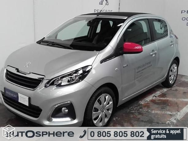Peugeot 108 citadine 1.2 PureTech essence Envy Top 5p portes 2016 d'occasion garantie 12 mois. Reprise - Financement - Extension de garantie possible. Saint Cyr sur Loire - Tours - PEUGEOT GRANDS GARAGES DE TOURAINE
