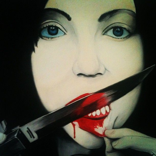 avrilliarts photo #suicidelady #oilpainting #canvas