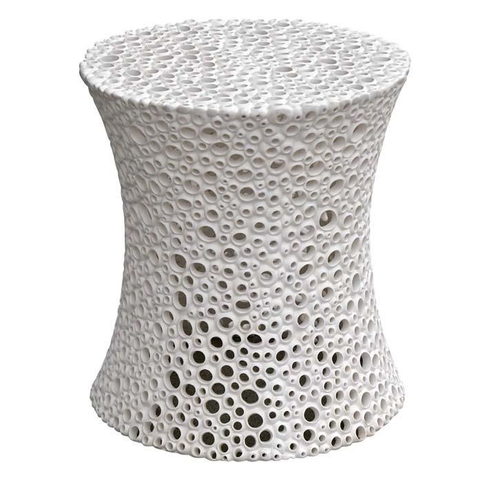 The Meri Side Table Is A Funky, Pierced White Resin Side Table From Oly  Studio