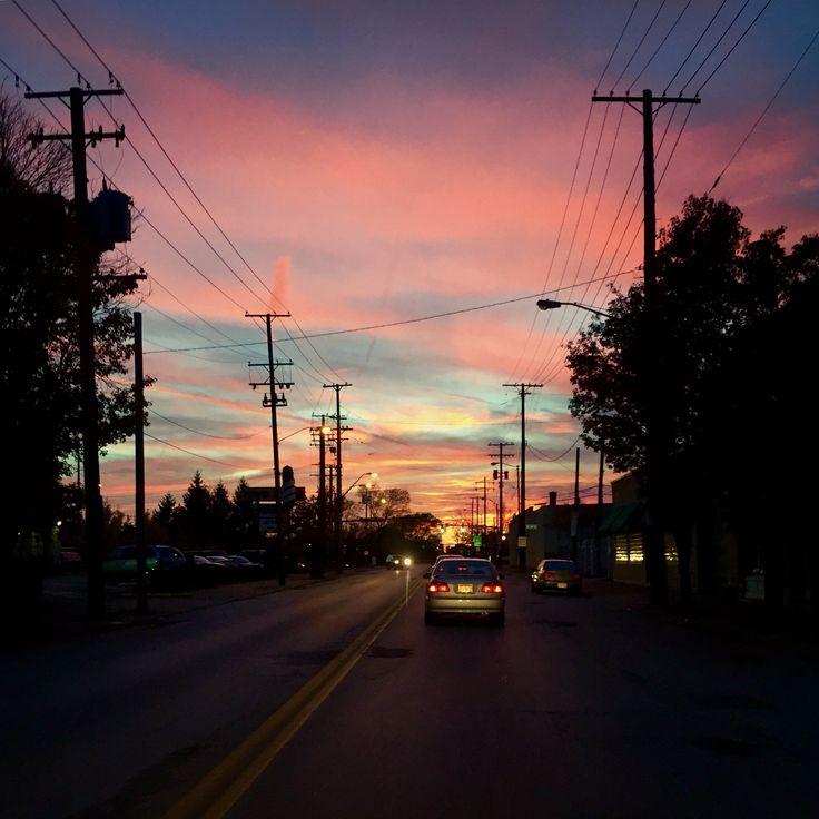 Sunset on Detroit