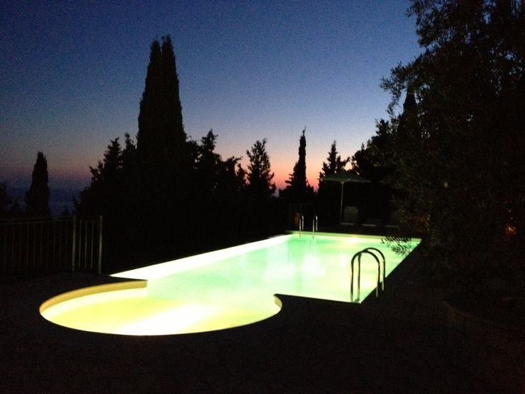 View from my pool at Villa Prinos