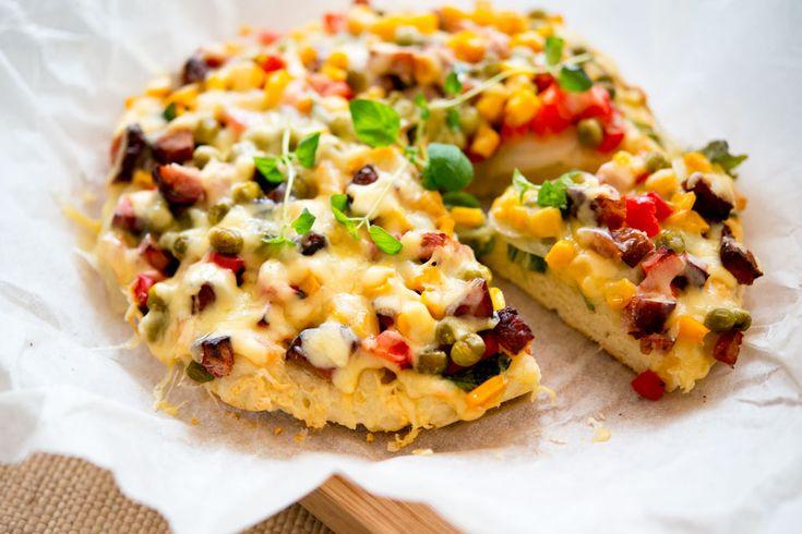Wytrawny placek a'la pizza