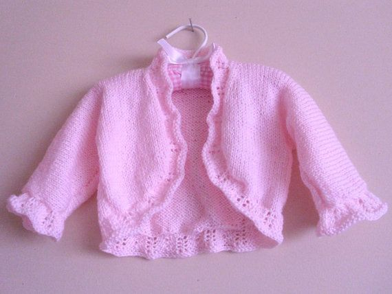 EASTER / SPRING Baby  sweater / shrug 18   24 by MarikaHandKnits, $35.00