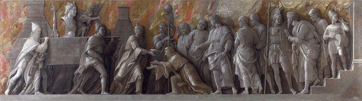 89. 1505-06 - Andrea Mantegna - Introduzione del culto di Cibele a Roma - Londra, National Gallery