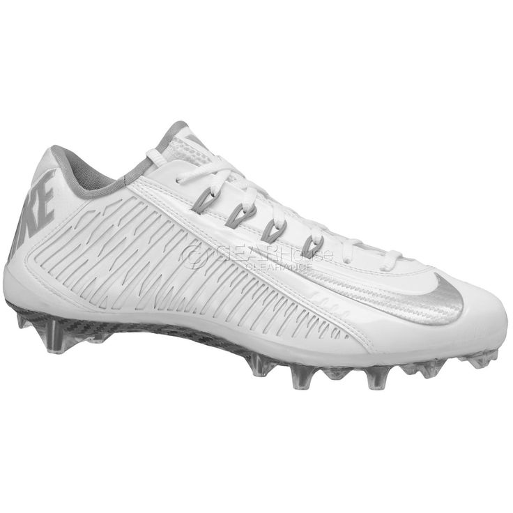 New NIKE Vapor Carbon 2014 Elite LAX Mens Lacrosse Cleats Football White Sz  13