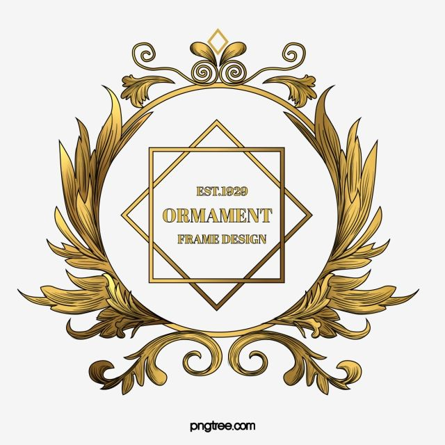Golden Classical European Decorative Plant Embossed Round Border Metallic Plant Decoration Golden Png Transparent Clipart Image And Psd File For Free Downloa Plant Decor Round Border Clip Art