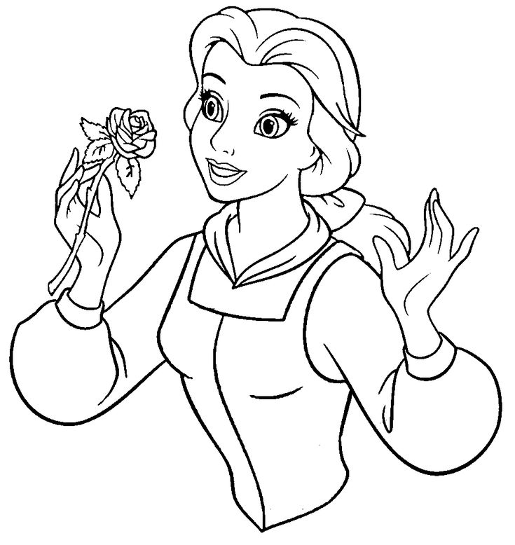 Beauty And The Beast Belle Hold A Sprig Of Flowers ...