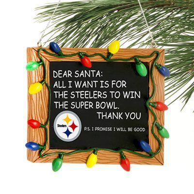Pittsburgh Steelers Chalkboard Sign Ornament