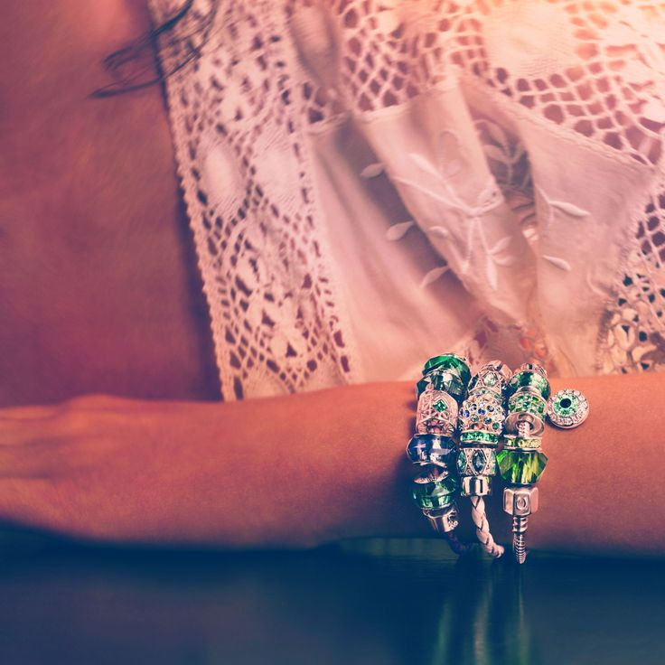 Today we are in the mood for beads. How many beads have you collected on your bracelet? #Swarovski #banglemania
