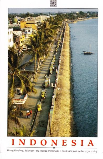 From INDONESIA - Ujung Pandang, Sulawesi - the seaside promenade is lined with food stalls every evening