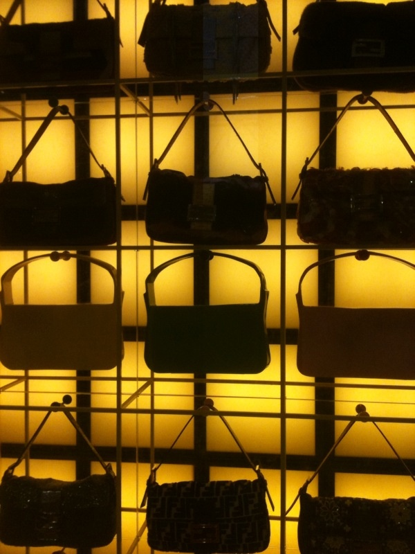 The new Baguette wall at FENDI Showroom.