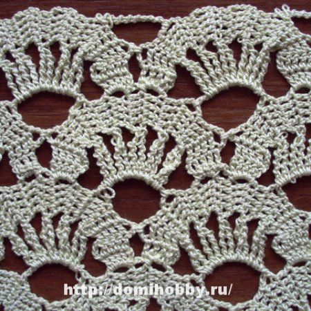 Crochet pattern with elements of Bruges lace with photo instructions