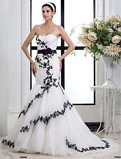 trompette / sirène sweetheart robe de mariée en tulle – CAD $ 236.33