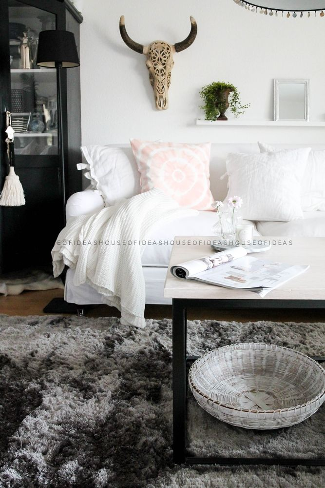 HOUSE of IDEAS skull, Batik Cushion pink http://myhouseofideas.blogspot.de/ #benuta #teppich #interior