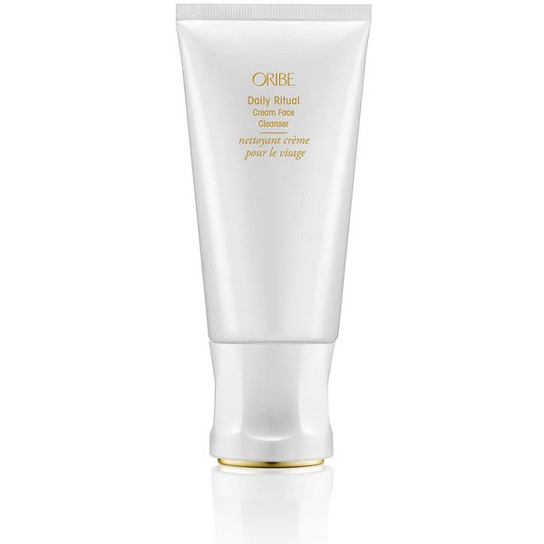 Oribe Daily Ritual Cream Face Cleanser featuring polyvore, beauty products, skincare, face care, face cleansers, paraben free face cleanser, paraben free facial cleanser, gentle face cleanser, oribe and paraben-free face wash