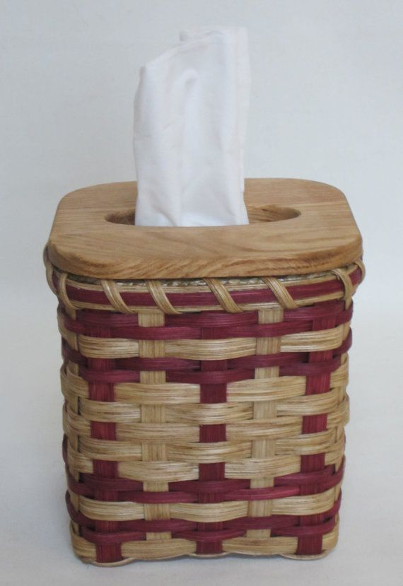 Tissue Basket by JGBaskets on Etsy, $25.00