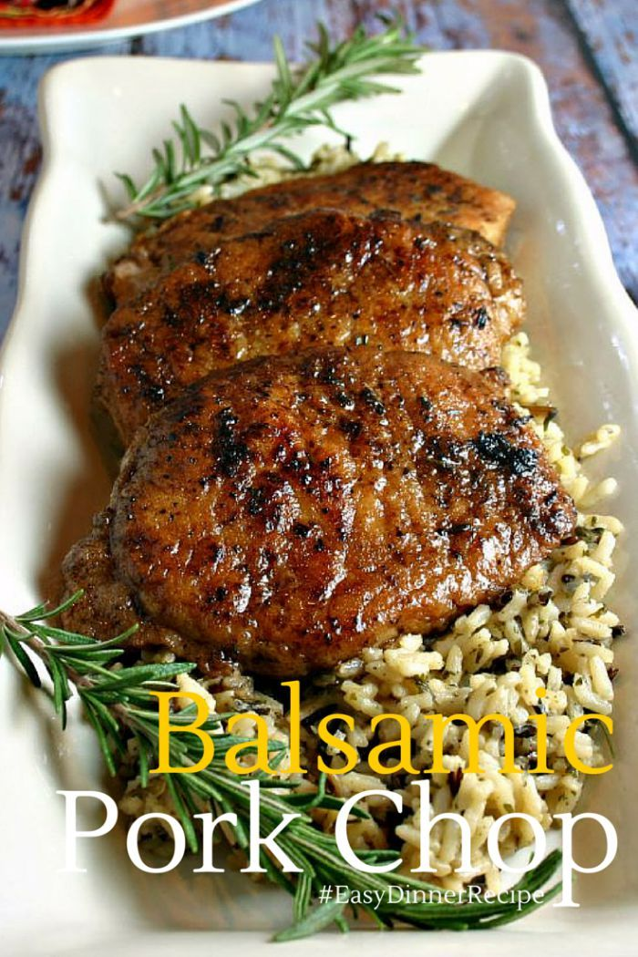 Balsamic Pork Chop | Life, Love, and Good Food - 4/4/16 Really good flavor! Was able to cook 8 pork chops (not at the same time). Would have cooked them shorter - they were boarder line dry.  Hubby LOVED the flavor. -Kt