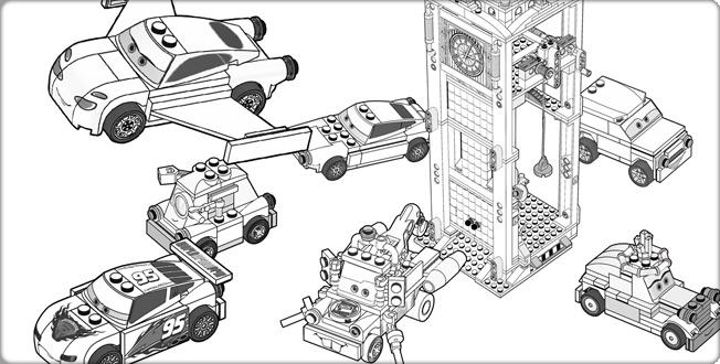 Coloring Pages Lego Car : Lego cars m�larbild pinterest coloring