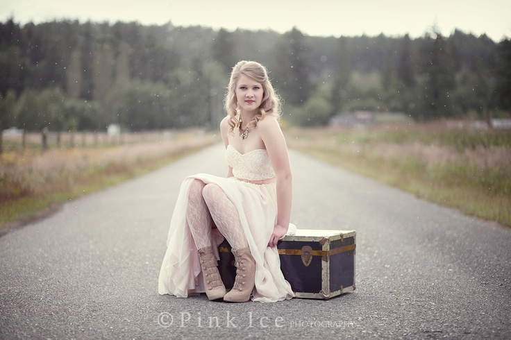 Vinage Chest, Gorgeous girl sitting backlit sparkly rain bokeh with and backlight Jen Jacques Photographer | Powell River Photographer Jennifer Jacques Grad 2012