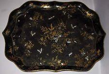 Ancien immense plateau papier mâché carton bouilli vers 1850 tray NAPOLEON III
