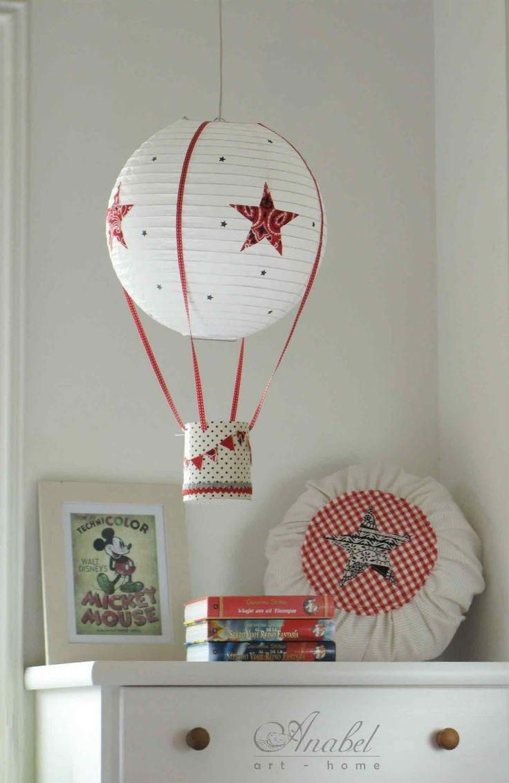 Lámpara, lamps, Lampshades, Abat-jours DIY como realizar una lámpara con una pantalla de papel de arroz. DIY hot air ballon lamp.