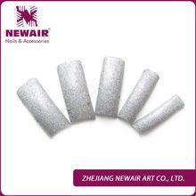 2014 Fall / Winter Design Luxury Silver Glitter Nail Tips Fashion Decoration Nail French False Nails 70 Pcs/Lot  Art Tips(China (Mainland))