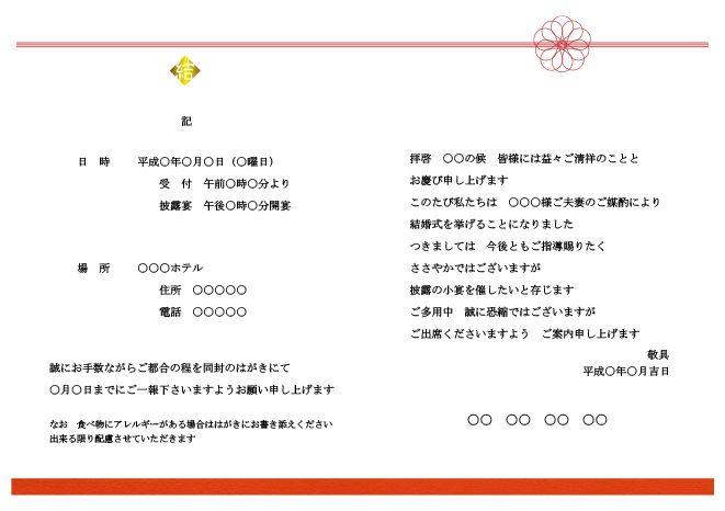 華結|プレミアムアニバーサリー ペーパーアイテム(招待状・席次表・席札)テンプレートダウンロードサービス