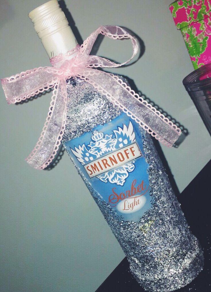 decorated Smirnoff bottle