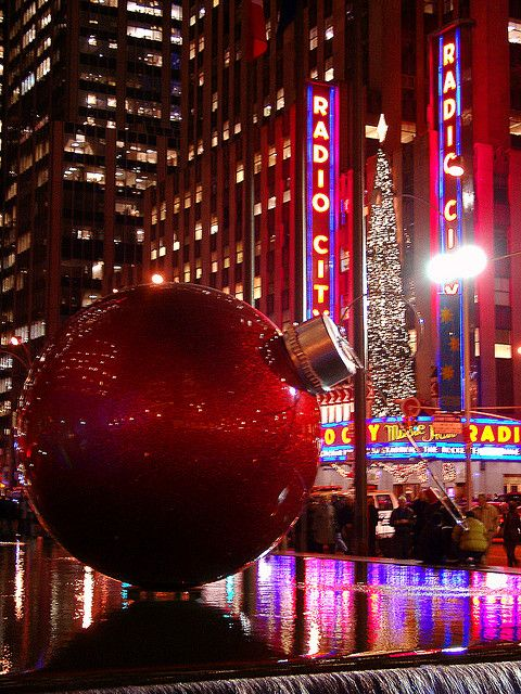 Sixth Avenue Christmas decoration   New York I want to be there so bad!