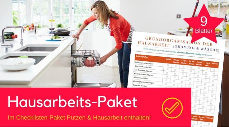 Damit geht die Grundorganisation der Hausarbeit etwa in der Küche, beim Waschen oder Putzen leichter von der Hand. Wer macht was und wann? Checkliste ✓