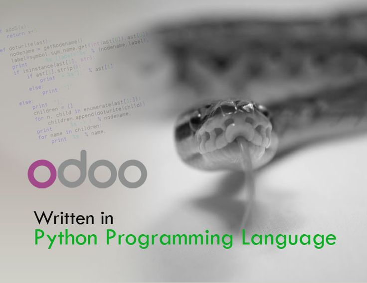 Odoo is written in Python..