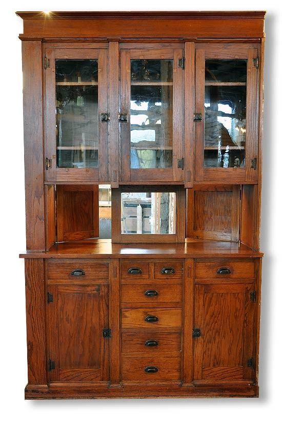 Pass through, built-in buffet cabinet..