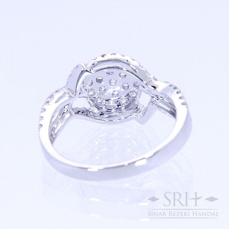 27731 18Karat White Gold Weight 3.72 gr Ring Size 13 0.864 Total Carat = 74 Rounds Diamond 0.049 Total Carat = 1 Rounds Diamond