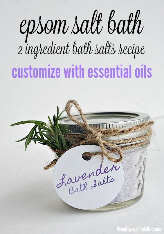 Diy Bath Salts With Epsom Salt Recipe
