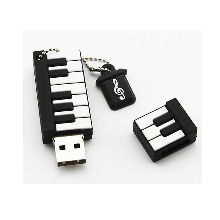 LEIZHAN Cute Piano Shape USB Flash Drive 4gb 8gb 16gb 32gb 64gb Pendrive storage flash disk USB2.0 pen drive Memory Stick U Disk