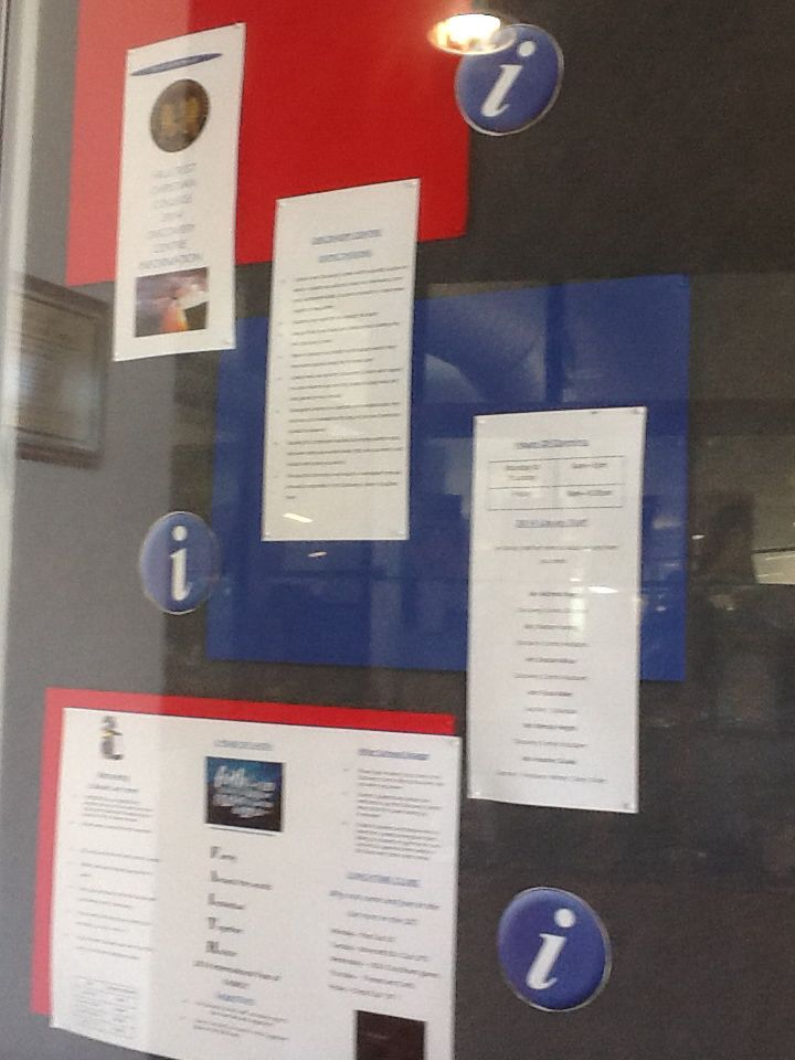 Front foyer notice board