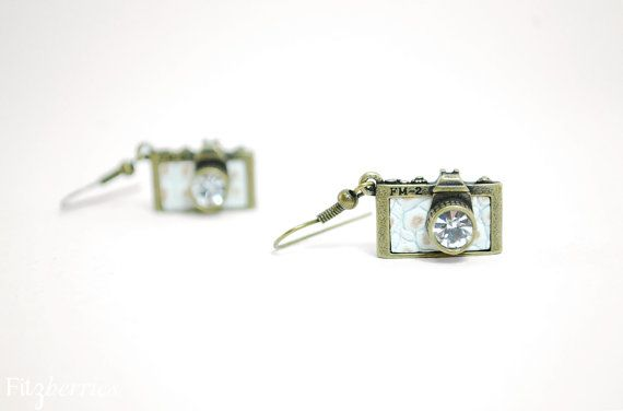 Camera novelty earrings  Novelty earrings  Camera by Fitzberries, $19.00