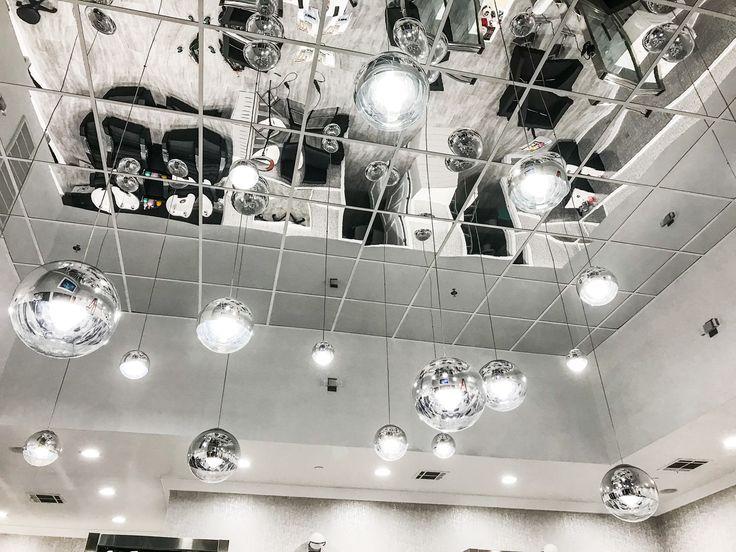 Mirror Ceiling Tile Silver In 2019 Optometry Office