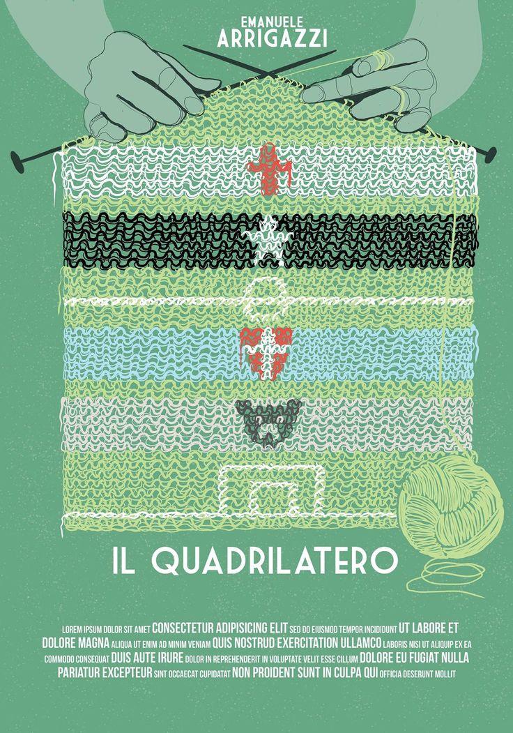 """4° Classificata Contest """"Una Locandina per il Quadrilatero""""  Artwork by Giorgia Scioratto."""