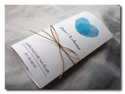 Kup teraz na allegro.pl za 1,79 zł - Zaproszenia Ślubne na Ślub Hearts odciski palców (6725523306). Allegro.pl - Radość zakupów i bezpieczeństwo dzięki Programowi Ochrony Kupujących!