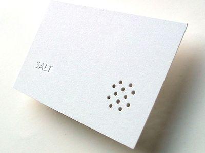 Restaurant card design.