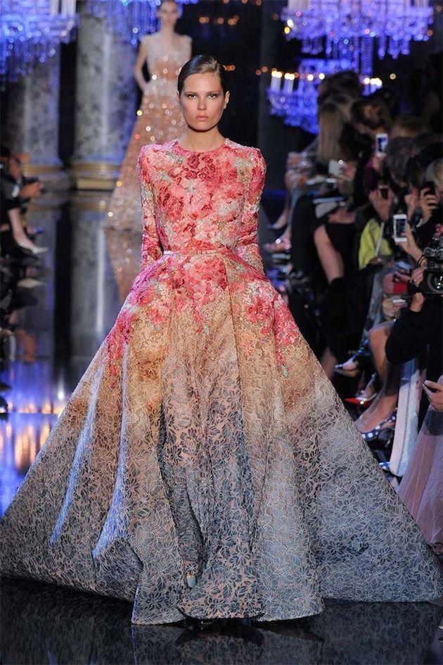 8 best Floral Wedding Gowns images on Pinterest | Short wedding ...