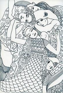 Draw inspired by Klimt by moniquilla www.moniquilla.com
