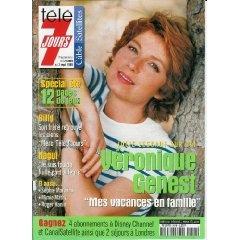 Véronique Genest, Julie Lescaut sur TF1 : Mes vacances en famille, dans Télé 7 jours (n°2048) du 28/08/1999  [Couverture isolée + article de 4 pages mis en vente par Presse-Mémoire]